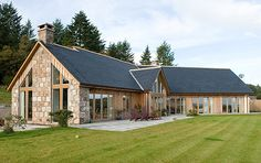 Scotframe Timber Frame Homes - Timber-frame kit homes for self-build houses Bungalow House Plans, Bungalow House Design, House Plans Uk, Dormer Bungalow, Timber Frame Homes, Timber House, Metal Homes, Timber Frames, Oak Frame House
