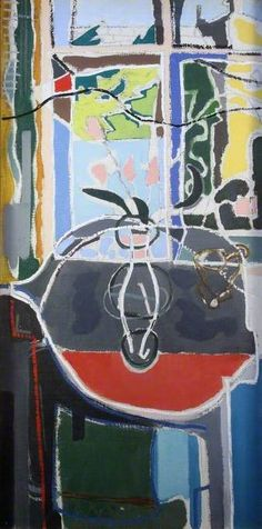 Patrick Heron - The Round Table: 1950 Gallery Of Modern Art, Art Gallery, Patrick Heron, National Portrait Gallery, Painting Still Life, Art Uk, Your Paintings, Art Market, Abstract Art
