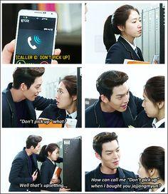 "Kim Woo Bin and Park Shin Hye ♡ #Kdrama - ""HEIRS"" / ""THE INHERITORS"". hahaha.. DON'T PICK UP"