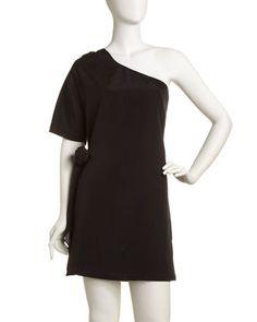 One-Shoulder Crepe Dress