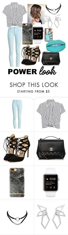 """""""My power look"""" by skylarmack8 ❤ liked on Polyvore featuring Barbour, T By Alexander Wang, Chanel, W. Britt and Jeffree Star"""