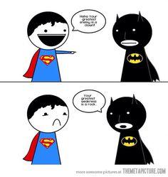 Funny batman and superman meme pic, batman win!