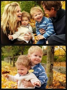 autumn family photo shoot. I like that its close up and playful