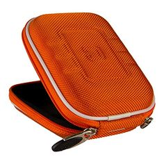 VanGoddy Semi Hard Nylon Carrying Case for Nikon COOLPIX AW130 Waterproof Digital Camera Orange *** Check this awesome product by going to the link at the image.