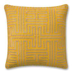 Colonial Greek Key Pillow Cover, Sunshine #williamssonoma