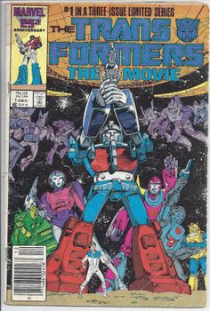 Marvel Transformers The Movie Comic Book #1 by cover