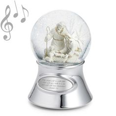 lenox christmas snow globes | Christmas & Holiday Water Globes & Snow Globes