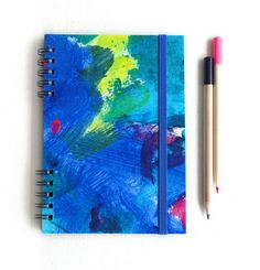 Summer blue notebook. Spiralbound notebook. por kinmcuadernos, €12.00