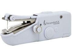 Mini Máquina de Costura Steam Max MaxHome SM-505 - c/ Três Bobinas Recarregável e Passador de Linha