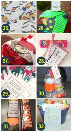 Whether it's good luck cards or fun good luck gift ideas, we have OVER 100 of the cutest and most creative ideas to wish someone good luck! Softball Gifts, Cheerleading Gifts, Cheer Gifts, Basketball Gifts, Cheer Mom, Team Gifts, Cheer Stuff, Cheerleader Gift, Diy Gifts