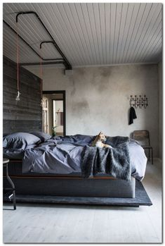 Industrial Bedroom Interior (46)