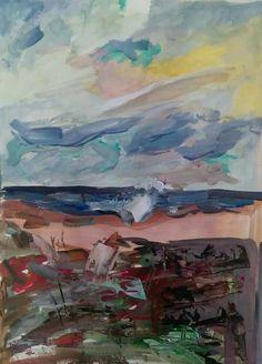 Acrylic seascape by tasos bousdoukos