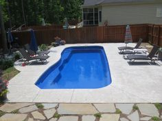 Barrier Reef Pacific 4 Fiberglass Pool installed by River Pools and ...