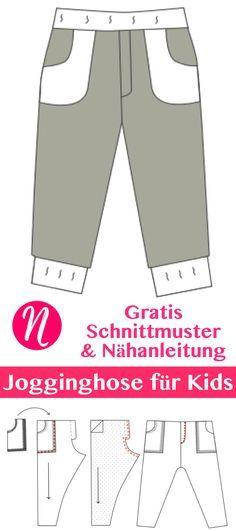 Freebook & Nähanleitung für eine bequeme Jogginhose für Kinder in Gr. 86 – 110