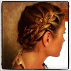 Easy way to make french braids an updo