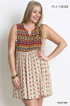 Online Clothing Boutique   Kelly Brett Boutique - Plus Size Babydoll Dress Taupe, $38.00 (http://www.kellybrettboutique.com/plus-size-babydoll-dress-taupe/)