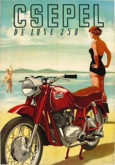 The Great Charm of Vintage Cars - Popular Vintage Bike Poster, Motorcycle Posters, Car Posters, Motorcycle Art, Vintage Advertising Posters, Vintage Advertisements, Vintage Ads, Vintage Posters, Vintage Bikes