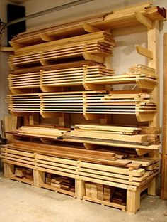 22 Super Ideas For Scrap Wood Storage Ideas Garage Organization Lumber Rack Woodworking Workshop, Easy Woodworking Projects, Woodworking Bench, Woodworking Shop, Wood Projects, Youtube Woodworking, Woodworking Patterns, Popular Woodworking, Welding Projects