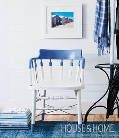 Use paint to transform a basic chair into a fun style statement. | Photo: Kim Jeffery Design: Cameron MacNeil