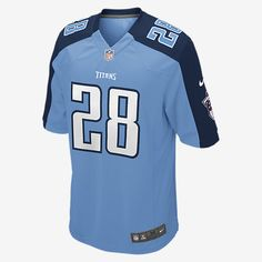 STAY TRUE TO YOUR TEAM ALL DAY, EVERY DAY, GAME DAY. Rep your favorite team and player anytime in the NFL Tennessee Titans Game Jersey, inspired by what they're wearing on the field and designed for total comfort. TAILORED FIT This jersey features a tailored fit designed for movement. LIGHT, SOFT FEEL Screen-print numbers provide a light and soft feel. CLEAN COMFORT The no-tag neck label offers clean comfort. Additional Details Strategic ventilation for breathability Woven jock tag at front…