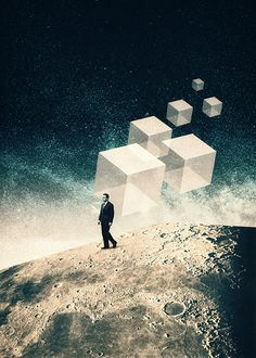 Post modernism - Nowhere - Julien Pacaud • Illustration • Perpendicular Dreams