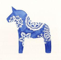 Swedish horse ~ by Melinda Josie