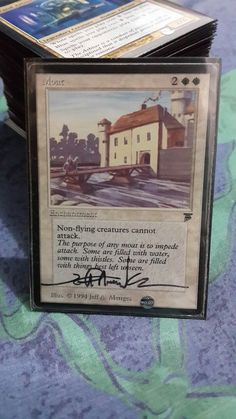 Moat signed by Jeff A. Menges