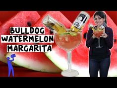 How to make a Bulldog Watermelon Margarita - Tipsy Bartender - YouTube