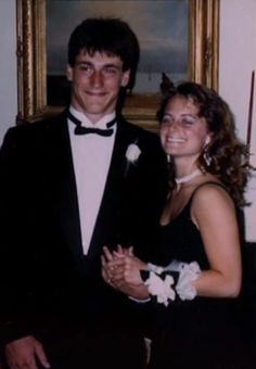 Proof that Jon Hamm has always looked great in a suit  — an adorable prom photo of Hamm and Sarah Clarke (who would go on to become an actress on 24 and in the Twilight movies)..