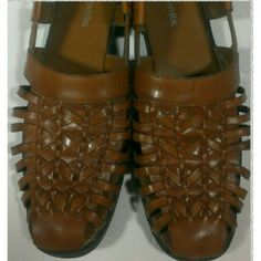 Summer Closeout Sale Final Markdown leather shoes These espadrilles are in good condition but do have some signs of wear especially on the heels.  see photos St. John's Bay Shoes Sandals