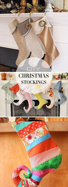 DIY Christmas Stockings • A round-up of amazing Christmas stocking Tutorials and Projects! #DIY #DIYchristmasstockings #DIYchristmasstockingtutorials #christmasstockings #christmasstockingideas #DIYchristmasstockingprojects