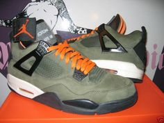 Air Jordan 4 Undefeated-Olive suede