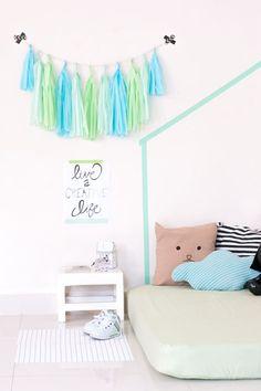 DALE VIDA A TUS PAREDES CON CINTA WASHI | Ideas sencillas y económicas para decorar las paredes de tus pequeños usando washi tape | Seryhacer.mx