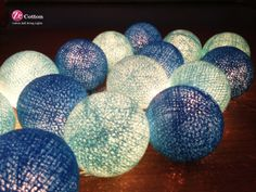 DIY centerpieces and string balls | Customer Color : 35 Cotton Ball String Lights Fairy lights ...