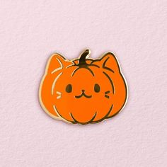 Pumpkin Cat Hard Enamel Pins // Jack-o-lantern Halloween Jacket Pins, Hard Enamel Pin, Pin Enamel, Cat Pin, Pin And Patches, Cool Patches, Cool Pins, Metal Pins, Clutch