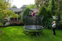 R54 Compact Round Springfree Trampoline Small Backyard Backyards