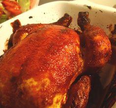 Aneta Goes Yummi: Pečené kukuričné kura v božskej Jamieho barbecue marináde Jamie Oliver, Tandoori Chicken, Barbecue, Meat, Ethnic Recipes, Food, Barrel Smoker, Essen, Bbq