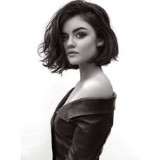 Lucy Hale's perfectly tousled #bob | This, but somehow incorporating my bangs? How to work in this length while avoiding my typical triangle hair...