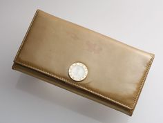 G6948 Authentic BVLGARI Patent Leather Bifold Long Wallet