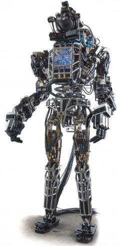 DARPA's Atlas robot. You got a problem with that? Talk to the (four) hands. (Credit: DARPA)