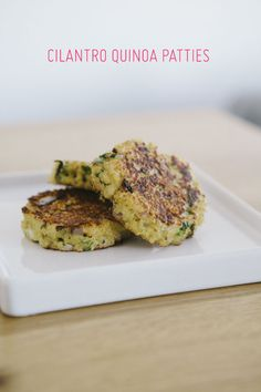 Cilantro Quinoa Patties - Oh So Very Pretty   A few of our favourite little things