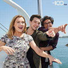 Eliza Taylor, Richard Harmon, and Bob Morley