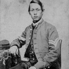 In 1845, the US ship Cohota had just left Shanghai when Captain Silas S. Day discovered two malnourished Chinese boys in the hold. The older boy died, but Captain Day decided to adopt the younger one, whose original name was supposedly Moy. Growing up as a cabin boy aboard the Cohota, he eventually took the name of the ship as his own. In February 1864, Cohota joined the 23rd Massachusetts Infantry and spent the next 16 months fighting for the Union in the US Civil War.