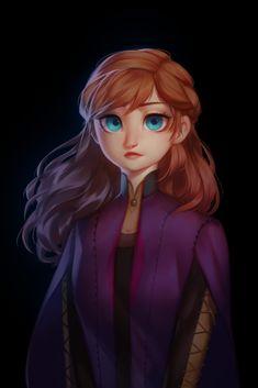 Disney Princess Drawings, Disney Princess Art, Disney Fan Art, Disney Drawings, Princess Anna, Ana Frozen, Disney Frozen Elsa, Frozen Anime, Disney And Dreamworks