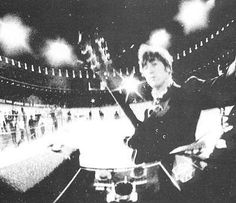 John snaps photo at last public performance at candlestick park on 29th august 1966. only the band knew it was going to be their last show - as something to remember it by, John & Paul took a camera to the stage with them | via Beatle Love ~ Cityhaüs Design