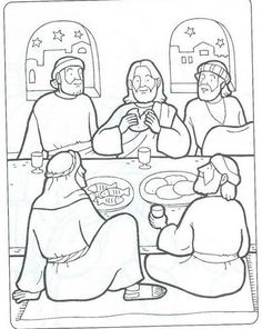 New Testament Coloring Pages | LAST SUPPER-ÚLTIMA CEIA-BIBLEKIDS