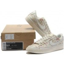 separation shoes b7f72 63d67 Nike Wmns Blazer Faible Femme Blanc Rose Sneakers Paris-20 Nike Blazer Femme,  Bas