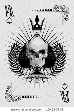 Ace of spades Stock Photos, Ace of spades Stock Photography, Ace . Cool Playing Cards, Cool Cards, Ace Of Spades Tattoo, Spade Tattoo, Card Tattoo Designs, Pirate Tattoo, Ace Card, Play Your Cards Right, Joker Card