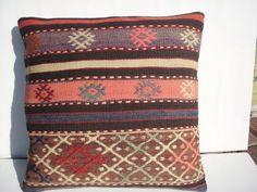 Turkish Kilim Throw Pillow