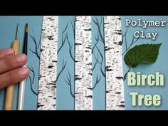 A miniature birch tree texture sculpted from polymer clay. I'm using fimo polymer clay and acrylics paints. The tools I'm using are an exacto knife, blade, t...